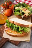 Pimento cheese sandwich with bacon. And lettuce Stock Photos