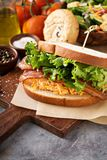 Pimento cheese sandwich with bacon. And lettuce Royalty Free Stock Photography