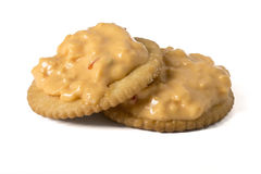 Pimento Cheese spread on crackers Royalty Free Stock Photo