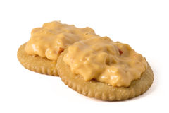 Pimento Cheese spread on crackers Stock Image