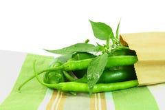 Pimento de pimentão fresco Fotos de Stock