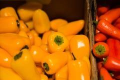 Pimento fresco no supermercado imagens de stock