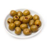 Pimento stuffed olives Stock Photo