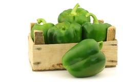 Pimentos de sino verdes frescos (capsicum) Foto de Stock Royalty Free