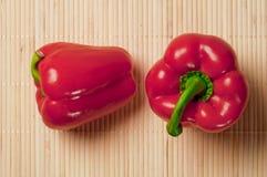 Pimentos vermelhos frescos Foto de Stock