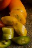 Piments de Serrano Image stock