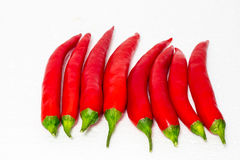 Piments rouges Images stock