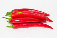 Piments rouges Photos stock