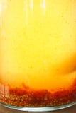 Piments rouges marinés en vinaigre Photos stock