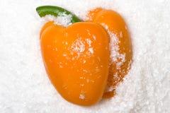 Pimienta anaranjada Fotos de archivo libres de regalías
