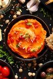 Pimienta asada Hummus imagen de archivo