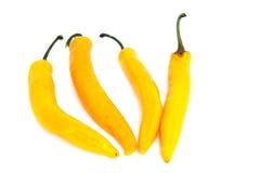 Pimienta caliente amarilla Foto de archivo libre de regalías