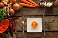 Pimienta como sorce de vitaminas Imagenes de archivo