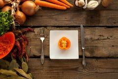 Pimienta como sorce de vitaminas Fotos de archivo libres de regalías