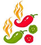 Pimienta de chile stock de ilustración