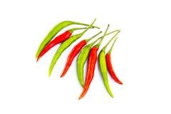 Pimienta de chile aislada en un fondo blanco Fotografía de archivo libre de regalías