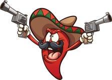 Pimienta de chile mexicana stock de ilustración