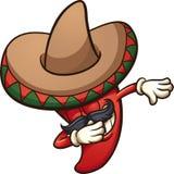 Pimienta de chile mexicana que frota libre illustration