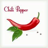 Pimienta de chile roja del hor stock de ilustración