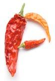 Pimienta de chile roja secada de pimienta Fotografía de archivo