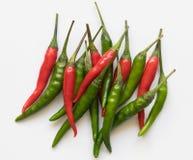 Pimienta de chile roja y verde Fotografía de archivo libre de regalías