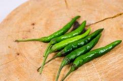 Pimienta de chile verde. Imágenes de archivo libres de regalías