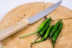 Pimienta de chile verde Fotografía de archivo libre de regalías