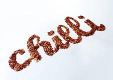 Pimienta de chiles de la insignia Foto de archivo libre de regalías