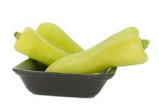 Pimienta de chiles verde Imágenes de archivo libres de regalías
