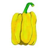 Pimienta dulce amarilla Imágenes de archivo libres de regalías