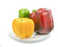 Pimienta dulce, diversas tensiones del color fotografía de archivo libre de regalías