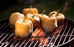 Pimienta dulce en el fuego Imagen de archivo libre de regalías