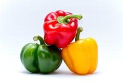 Pimienta dulce verde y amarilla roja Imagen de archivo libre de regalías