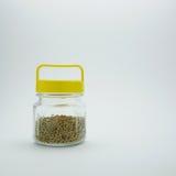Pimienta en botella con el casquillo amarillo (#1) Fotos de archivo libres de regalías
