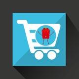 Pimienta fresca linda de la compra del mercado del concepto Foto de archivo libre de regalías