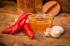 Pimienta, miel y ajo de Ramiro Foto de archivo libre de regalías