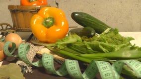 Pimienta, pepino, verdes, lechuga, centímetro, consumición sana metrajes