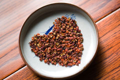 Pimienta; Pimienta roja china; Ceniza espinosa china; pricklyash del peppertree Imagen de archivo