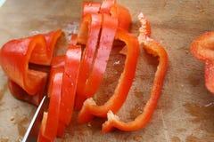 Pimienta rebanada Fotos de archivo