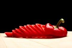 Pimienta rebanada Foto de archivo libre de regalías