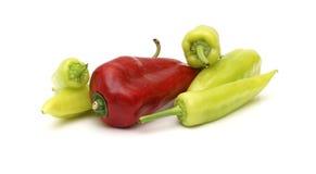 Pimienta roja y verde  Fotografía de archivo libre de regalías
