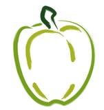Pimienta verde Ilustración del Vector