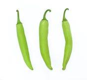Pimienta verde Imagenes de archivo