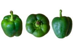 Pimienta verde Fotos de archivo libres de regalías