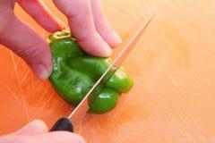 Pimienta verde Imagen de archivo libre de regalías
