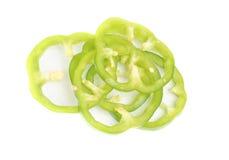 Pimienta verde aislada en blanco Fotografía de archivo libre de regalías