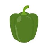 Pimienta verde del icono plano Fotografía de archivo libre de regalías