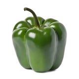 Pimienta verde fresca aislada en blanco Imagen de archivo