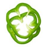 Pimienta verde rebanada Imagenes de archivo