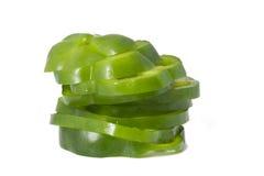 Pimienta verde rebanada Fotografía de archivo
